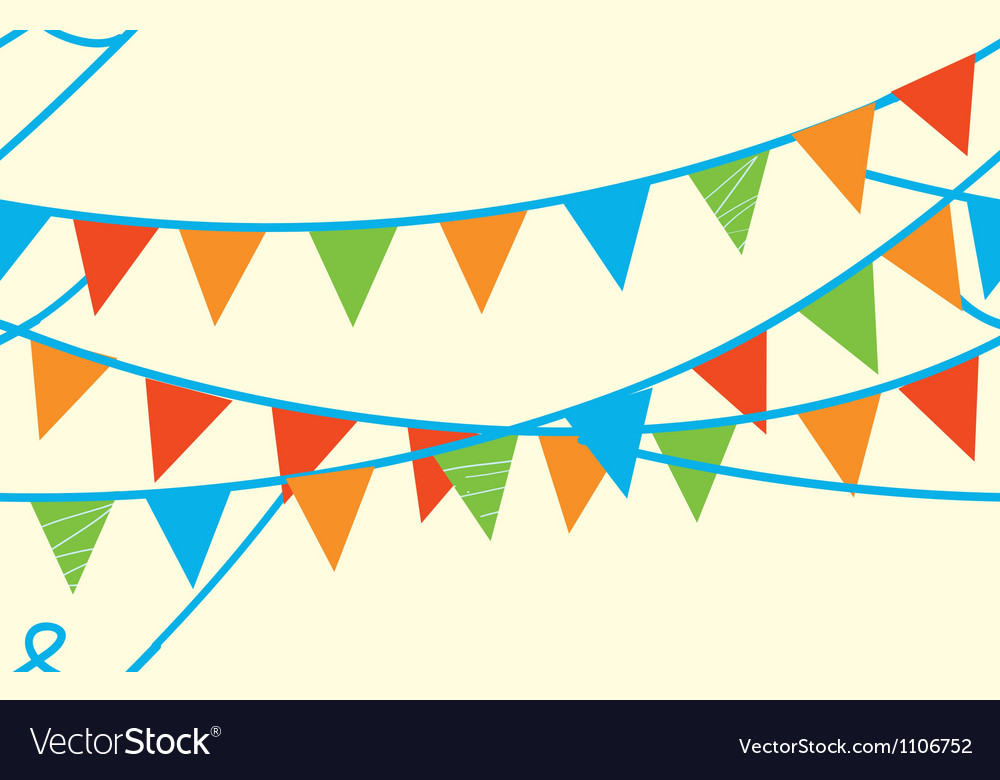 Seamless banner with flags vector image