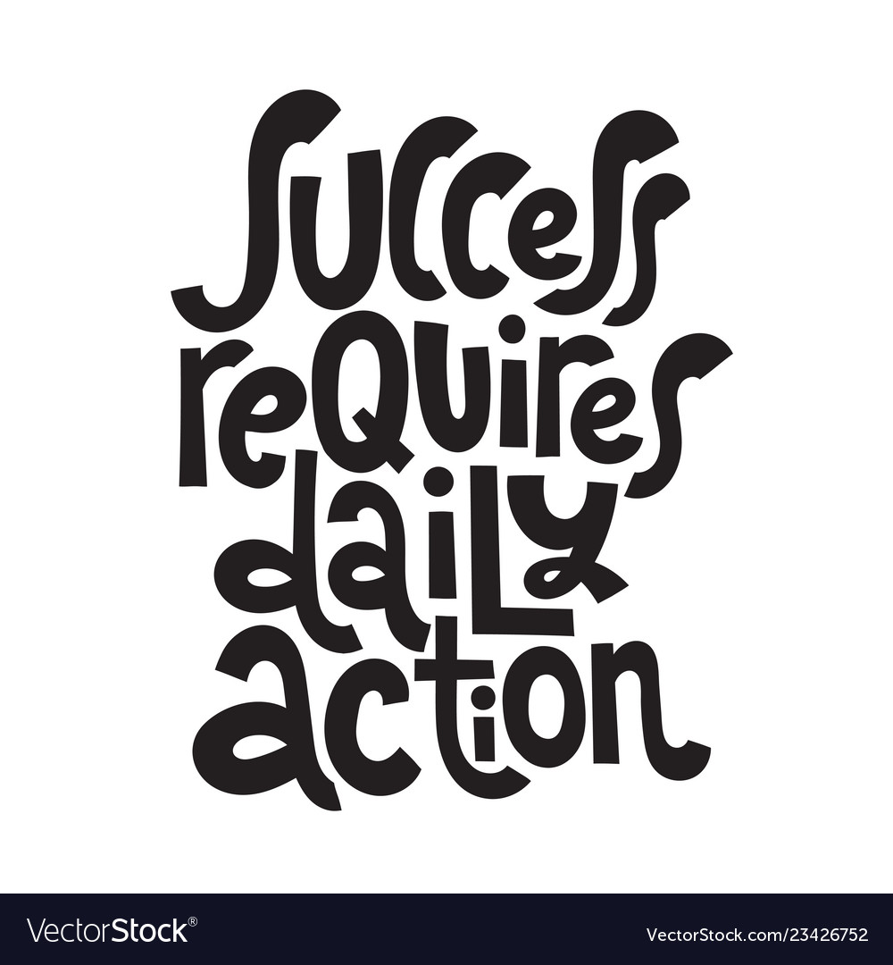 Success Motivational Quotes Royalty Free Vector Image