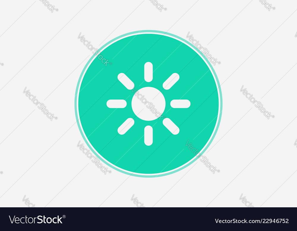 Sun icon sign symbol