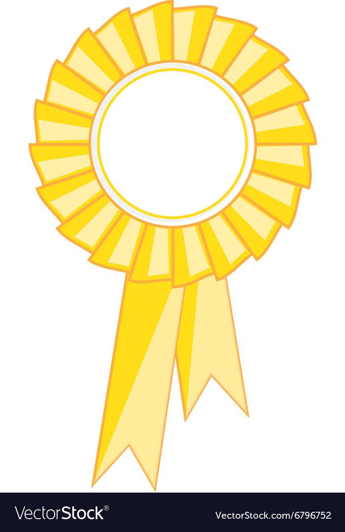 yellow award ribbon royalty free vector image vectorstock