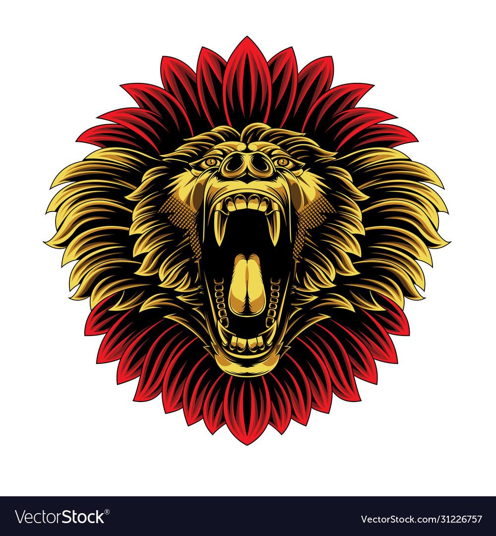 Angry baboon head esport logo