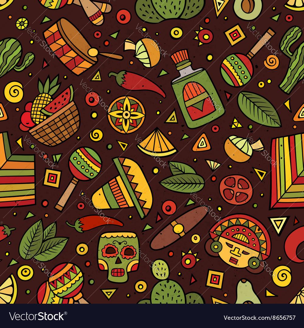 Cartoon hand-drawn latin american mexican