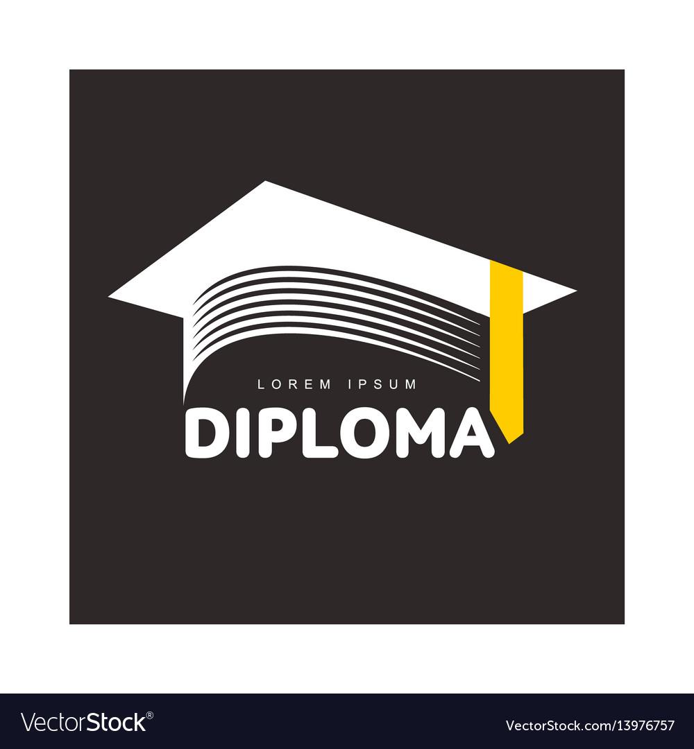 Graphic three colored square academic graduation vector image