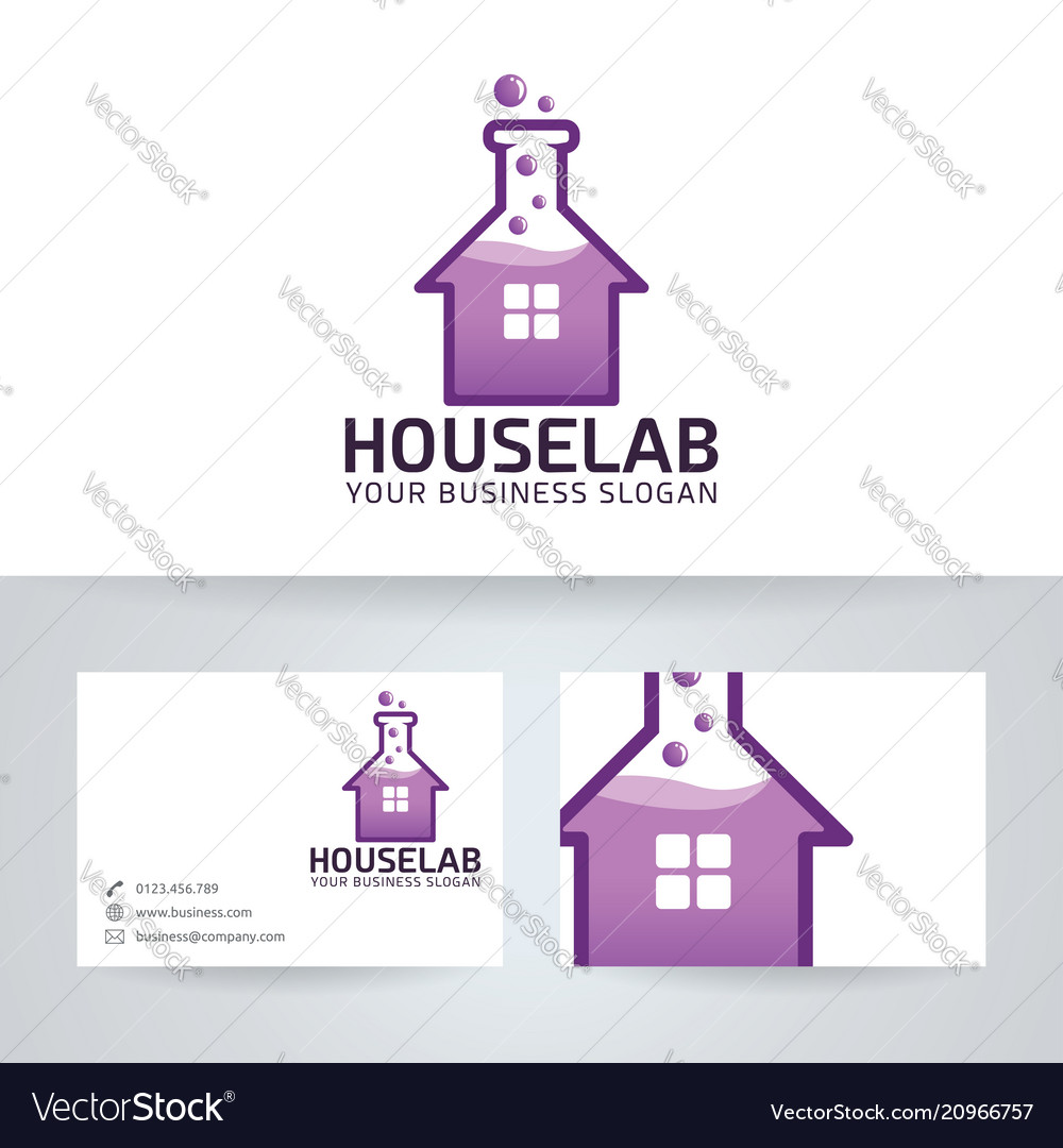 House lab logo design