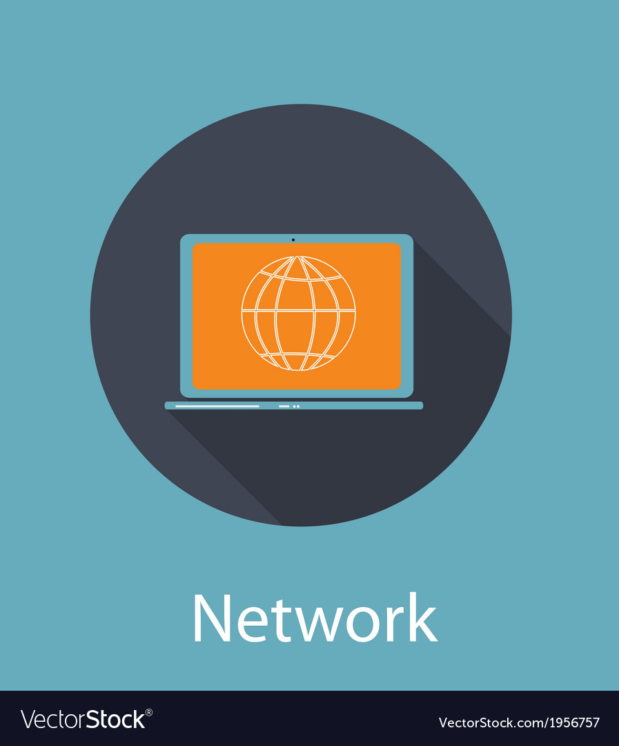 Network Flat Concept Icon