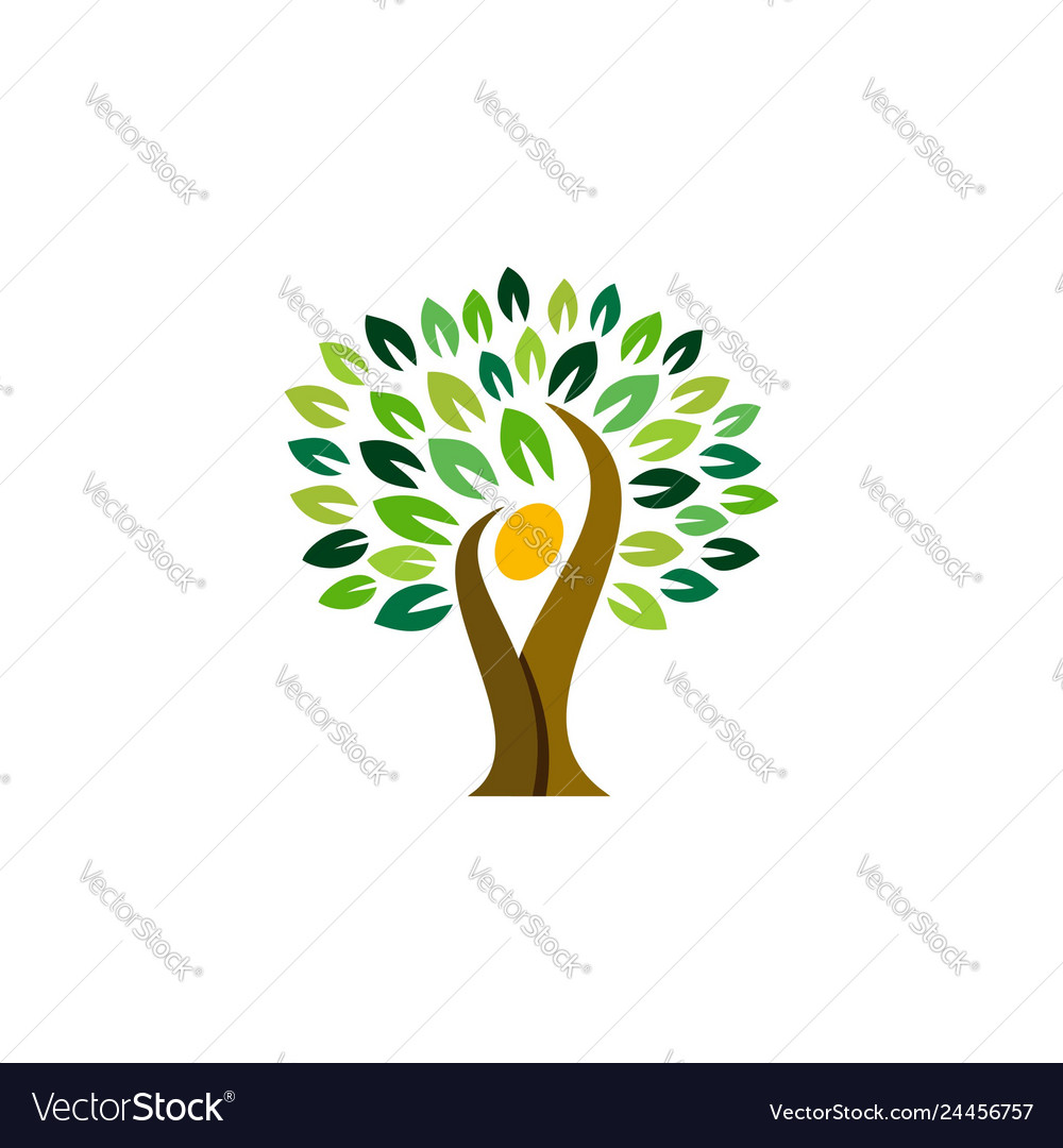 People tree logo symbol icon design