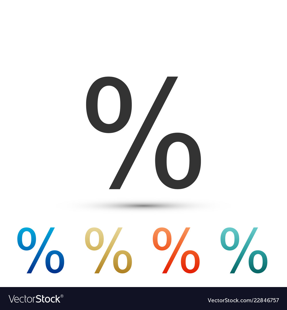 Percent symbol discount icon on white background