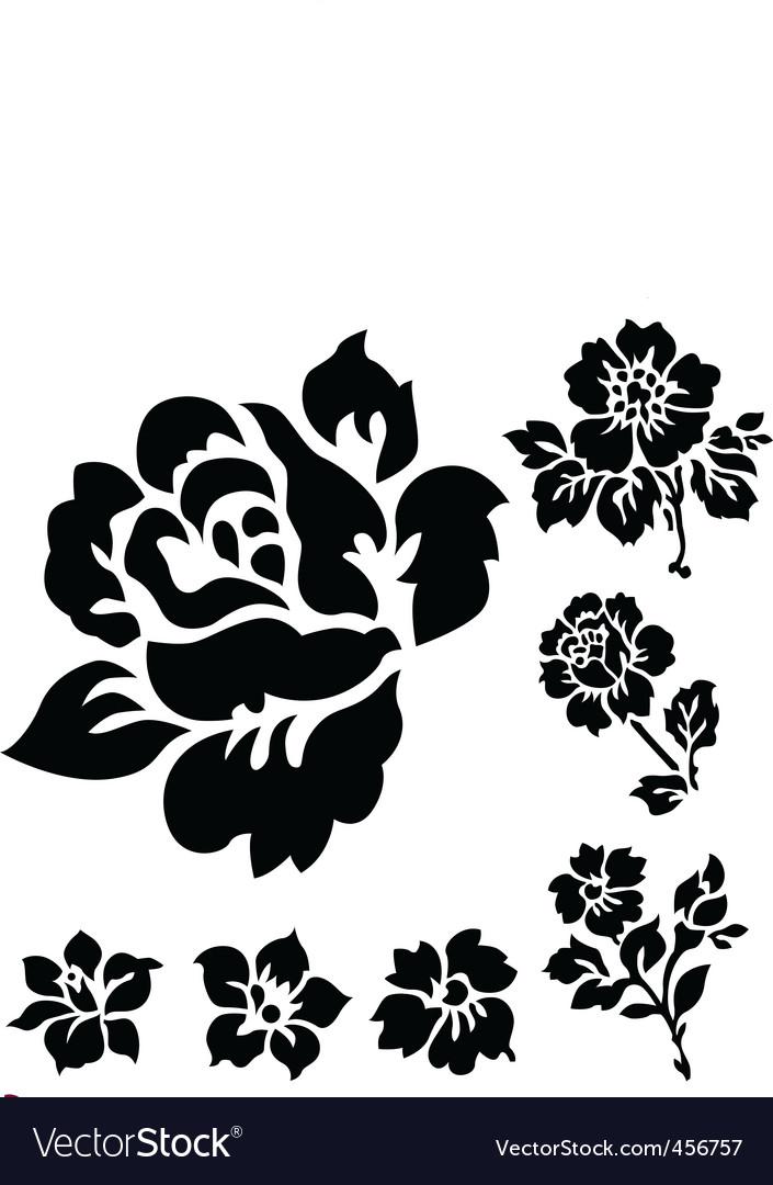 Rose ornamental vector image