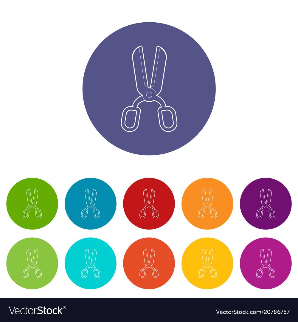 Scissor icon outline style