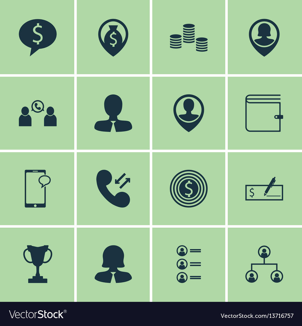 Set of 16 hr icons includes messaging job