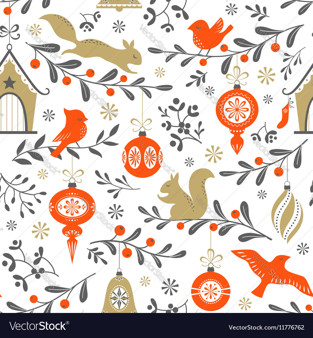 Christmas retro pattern
