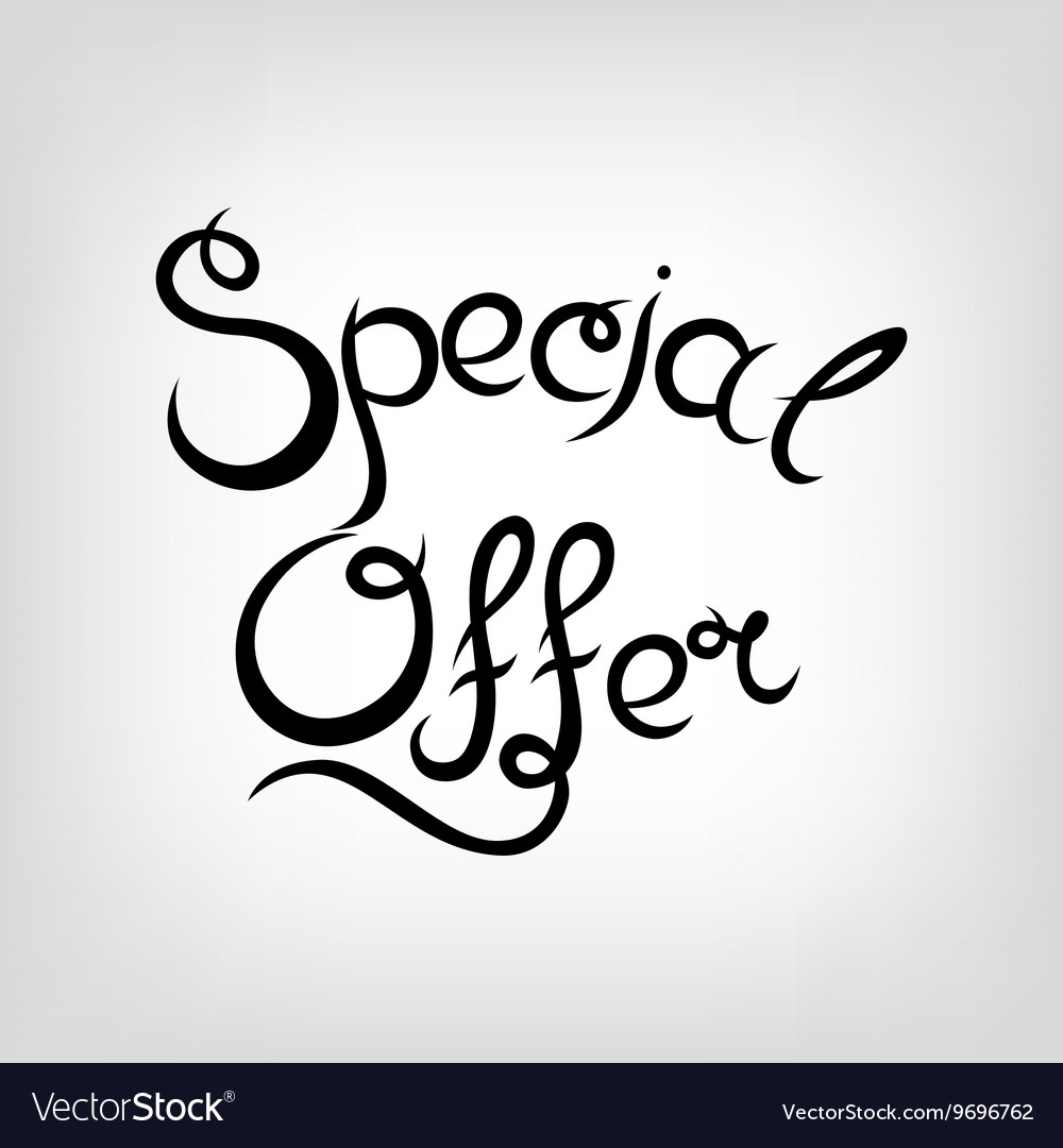 Hand-drawn Lettering Special Offer