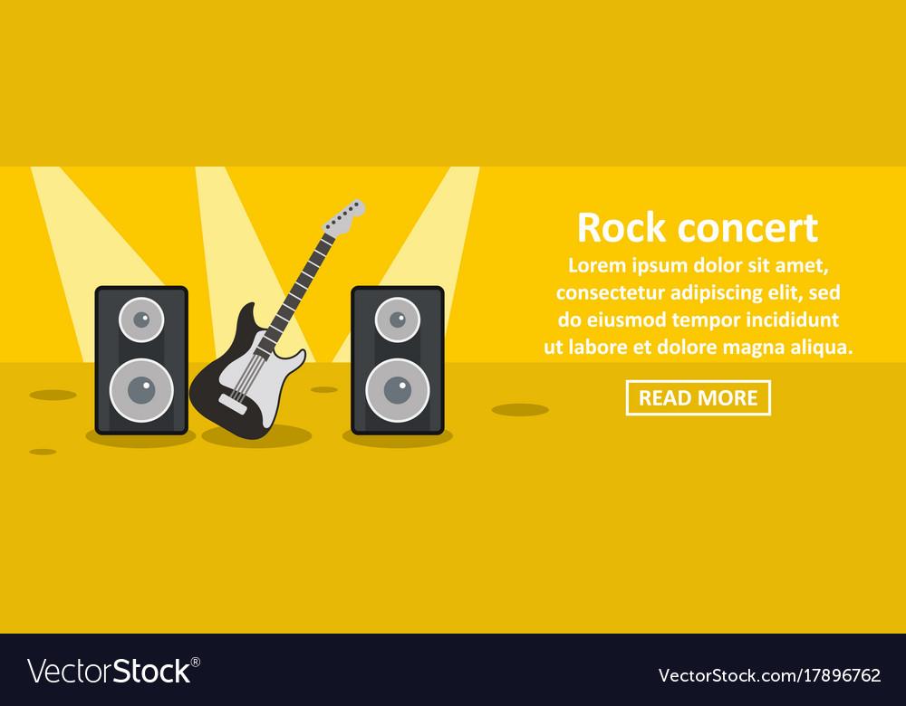 Rock concert banner horizontal concept