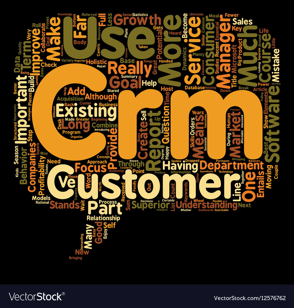The Importance Of C In CRM text background