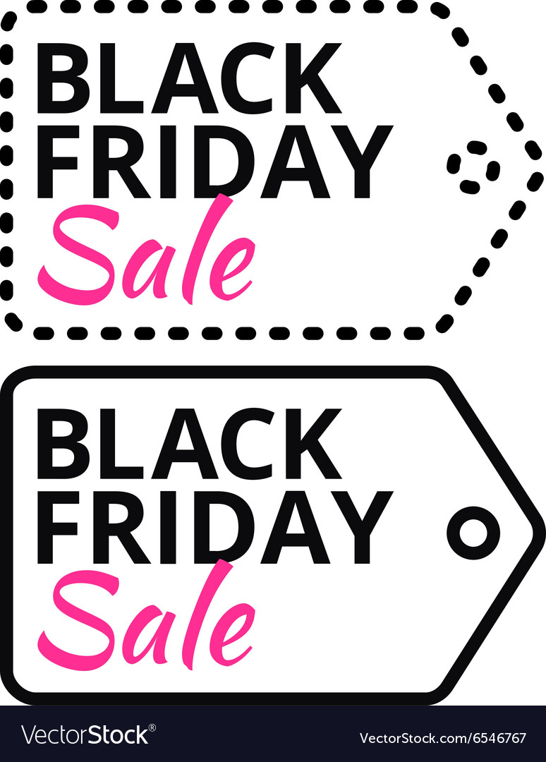 Black Friday sales line tag with text