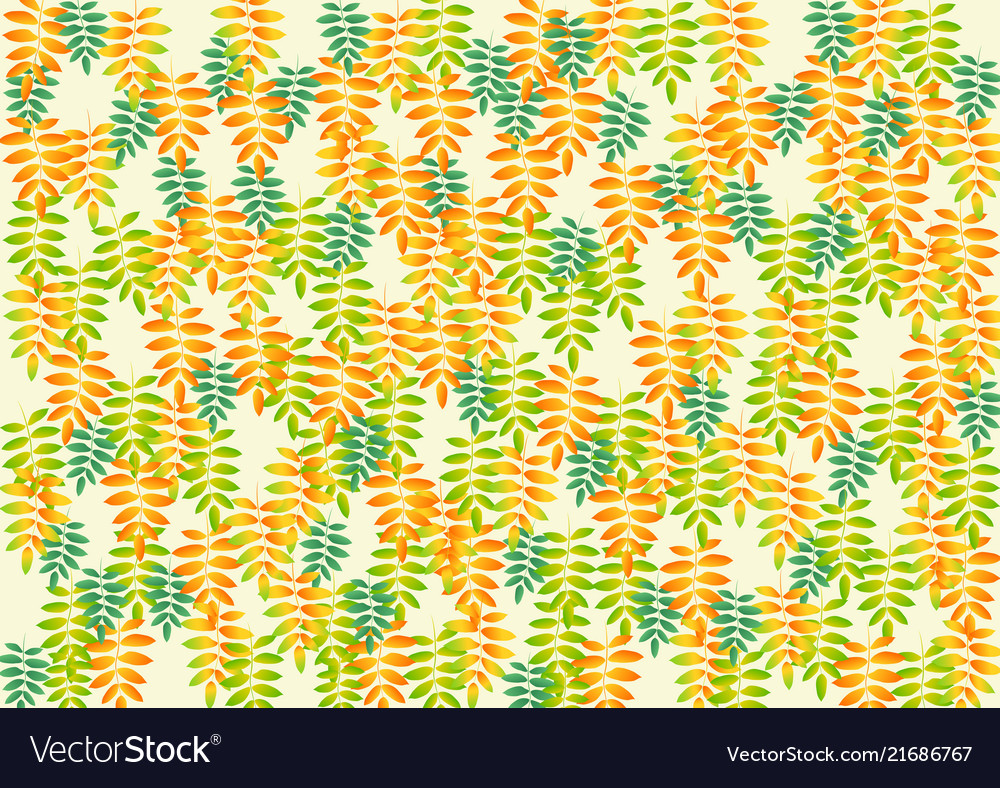 Bright colorful background of rowan leaves