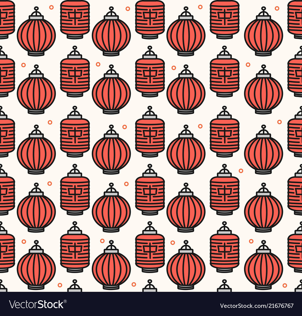 Chinese traditional lanterns seamless pattern