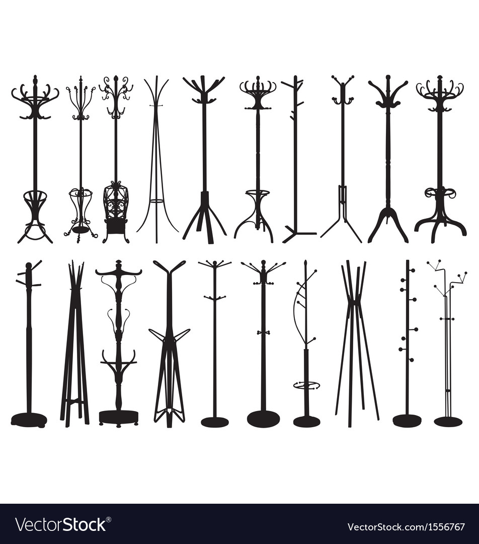 Coat stand silhouettes