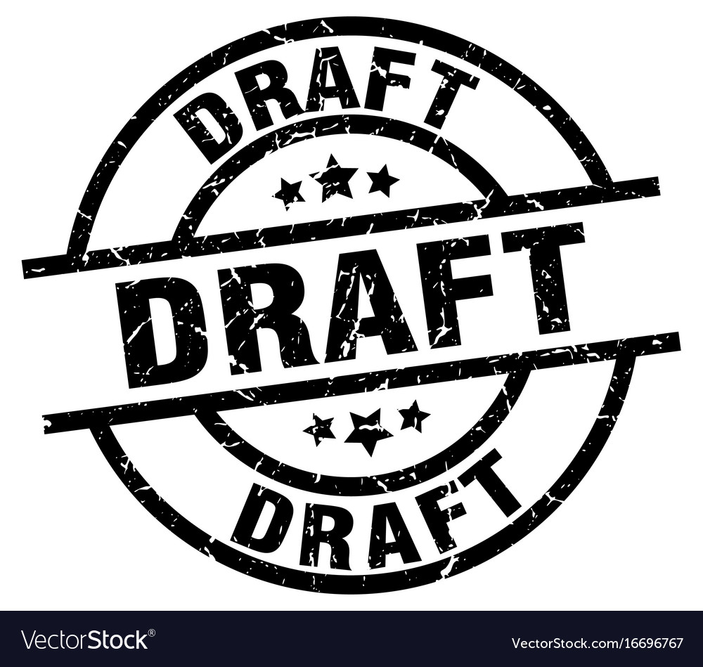 Draft round grunge black stamp