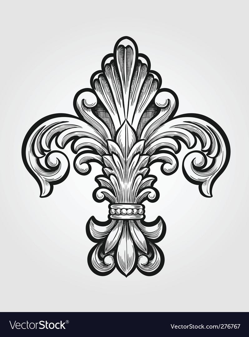Elegant Fleur-de-lis