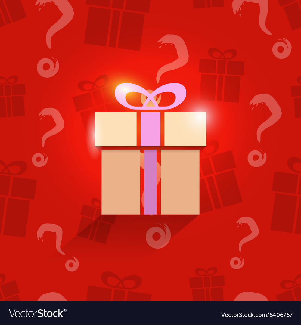 Gift box on present pattern vector image