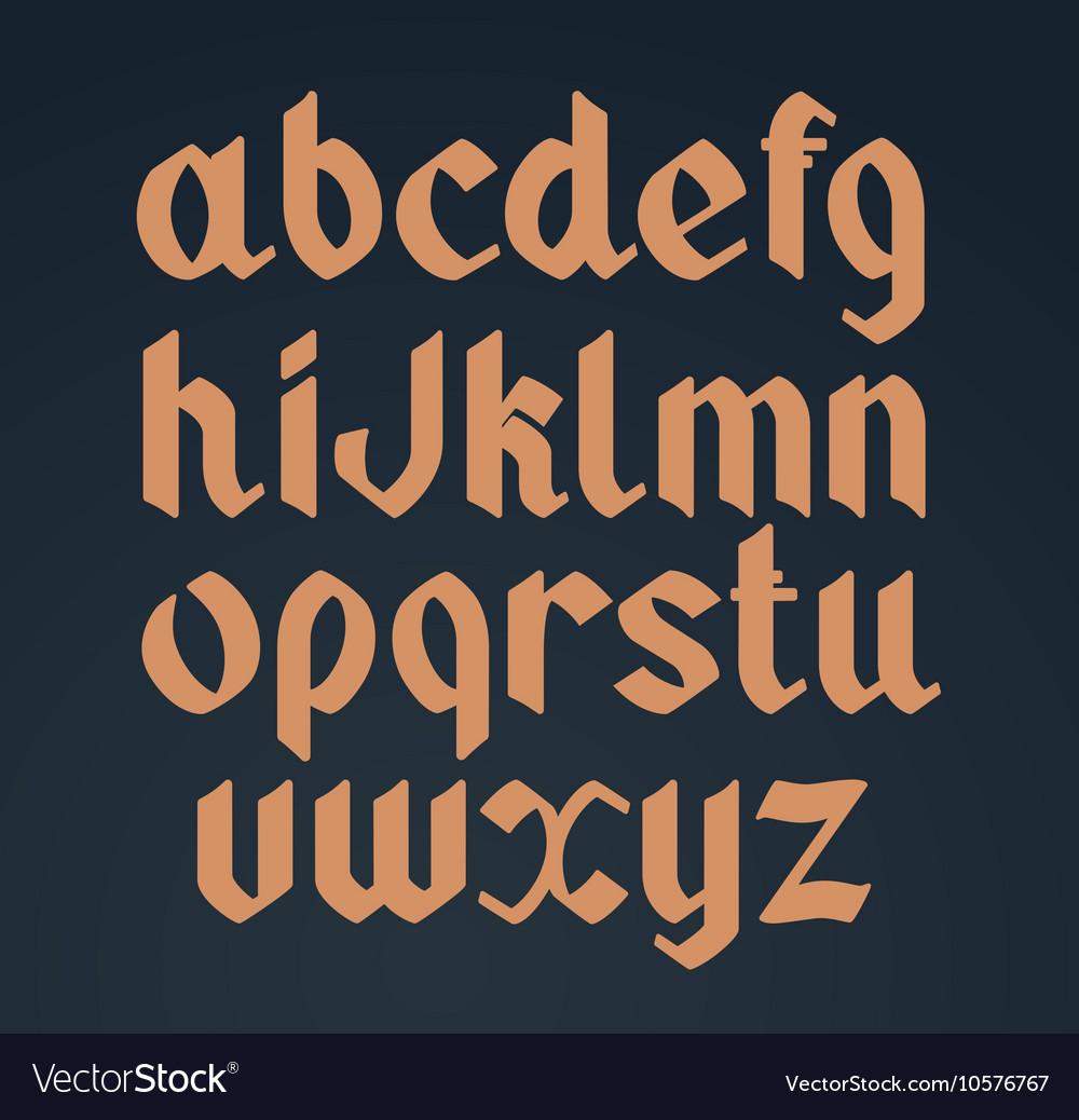Gothic handwritten font Vintage vector image