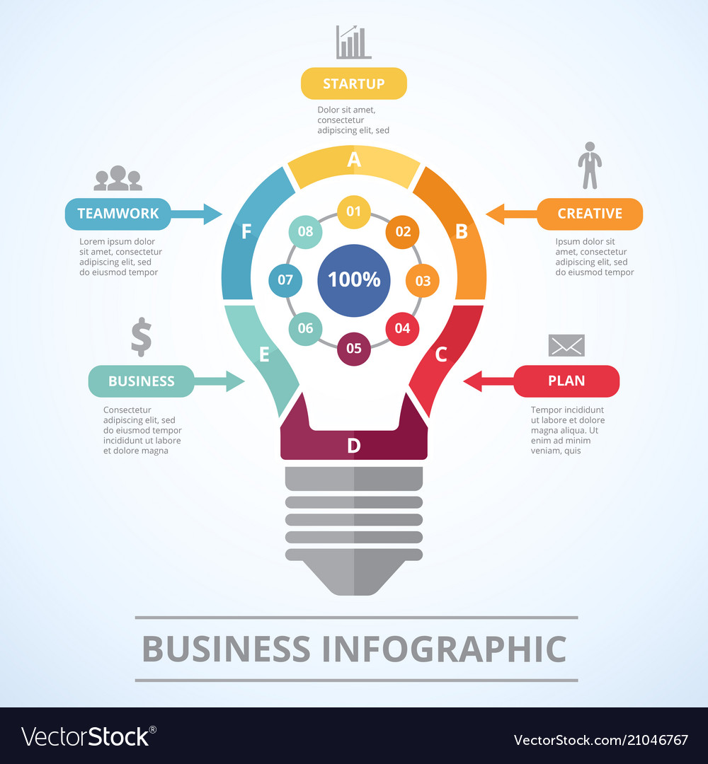 Infographic concept with stylized picture of