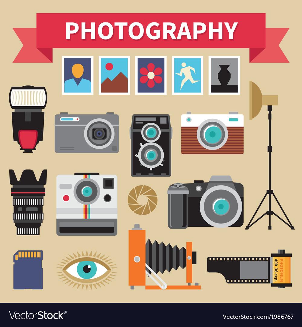 Photography - icons set - creative design