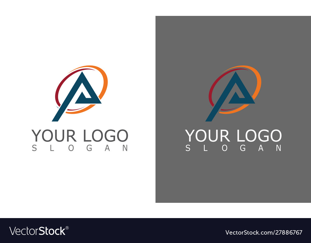 Triangle round logo