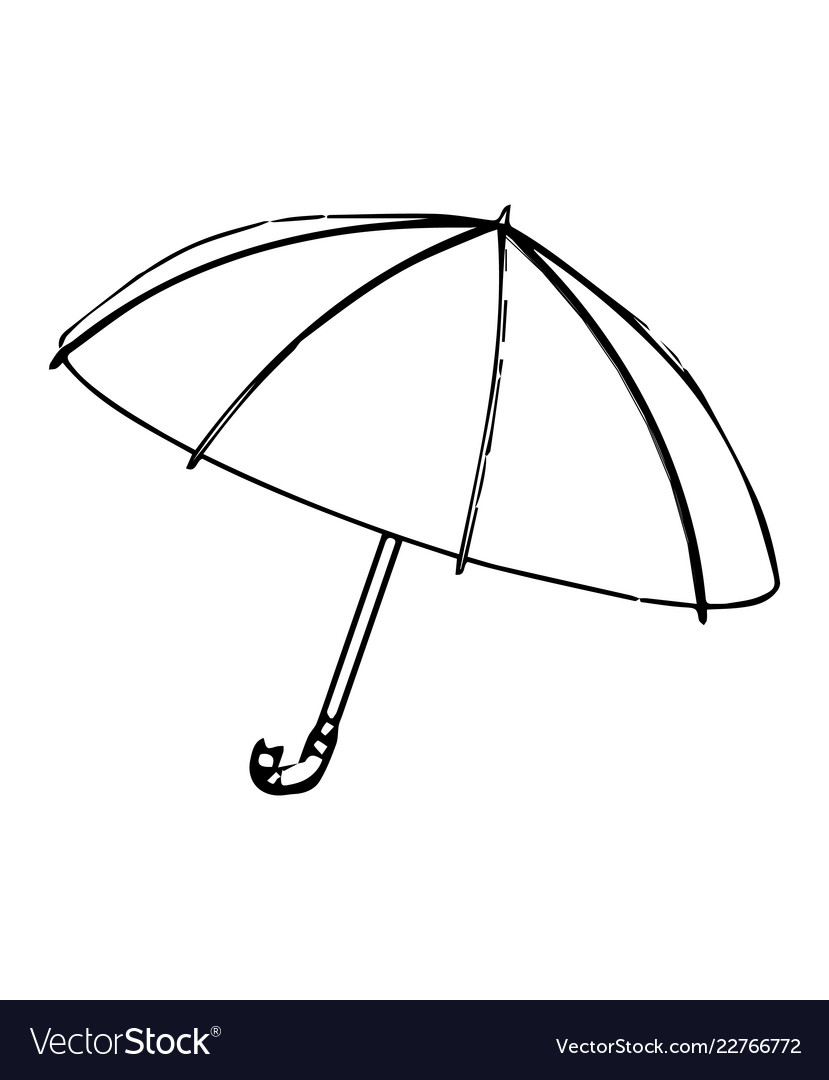3d model of an umbrella on a white