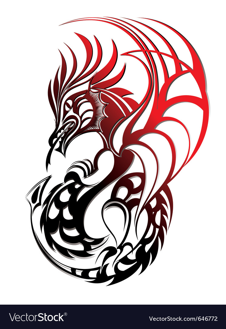 chinese dragon royalty free vector image vectorstock rh vectorstock com chinese dragon vector free download chinese dragon tattoo vector