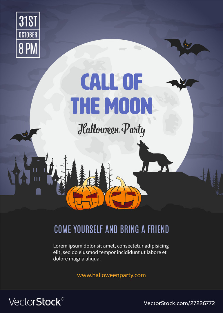 Invitation template for halloween party