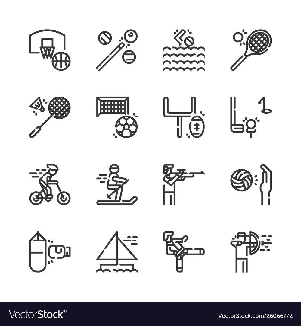 Sport activities icon set