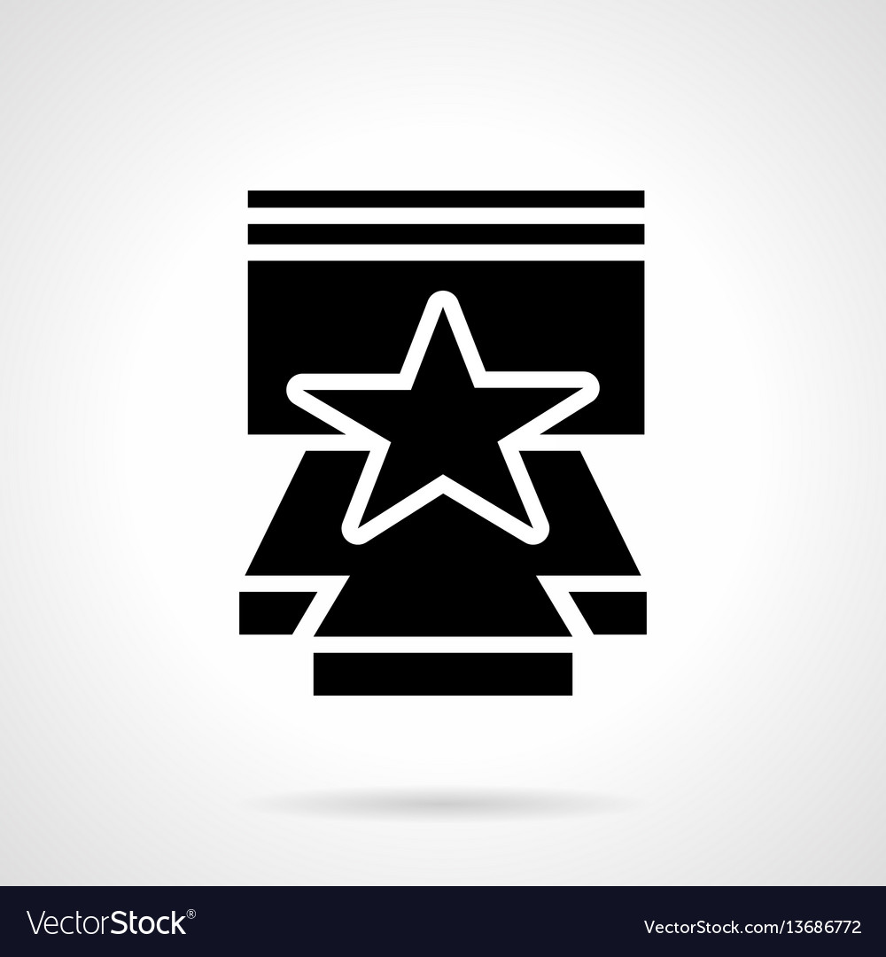 Stage performance glyph style icon vector image