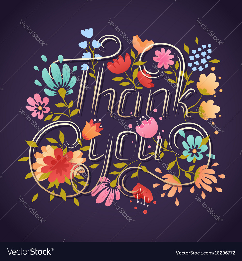 Thank you lettering greeting card lettering