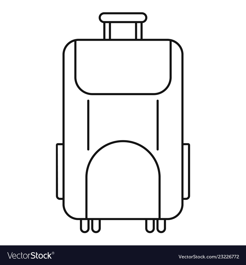 Travel bag icon outline style