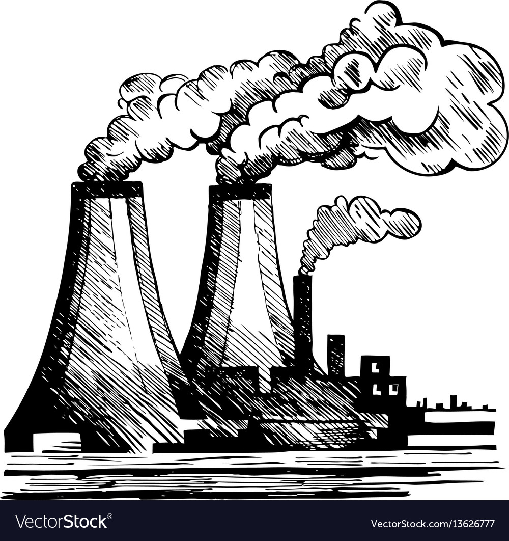 Air ecology and the problem of air pollution vector image