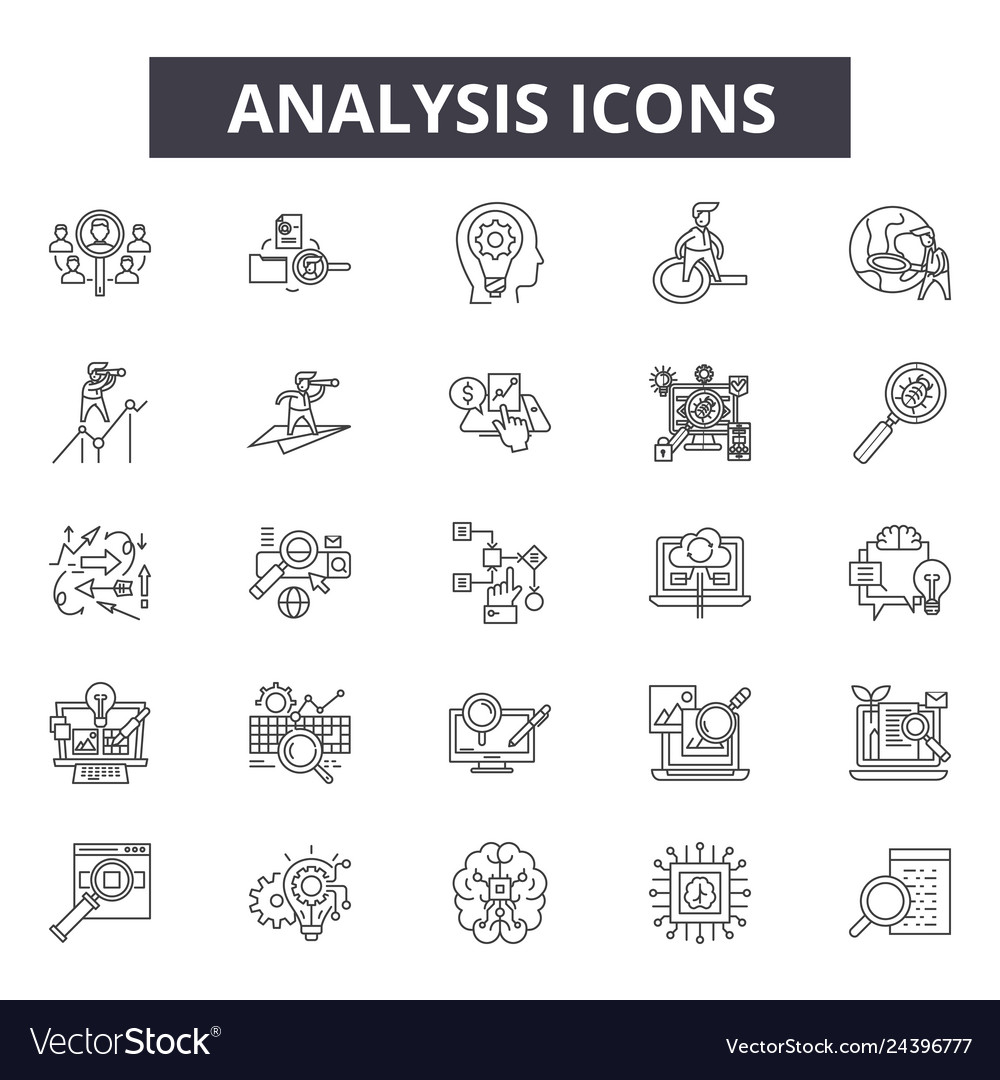 Analysis line icons for web and mobile design