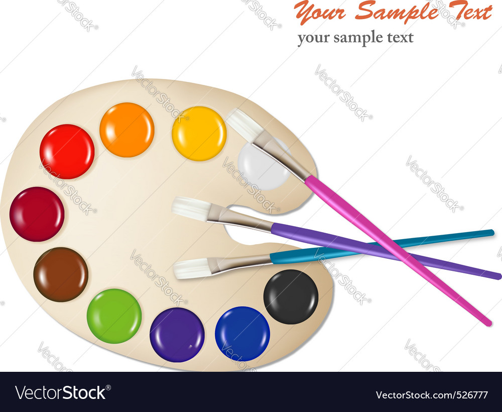 Color Paint Royalty Free Vector Image