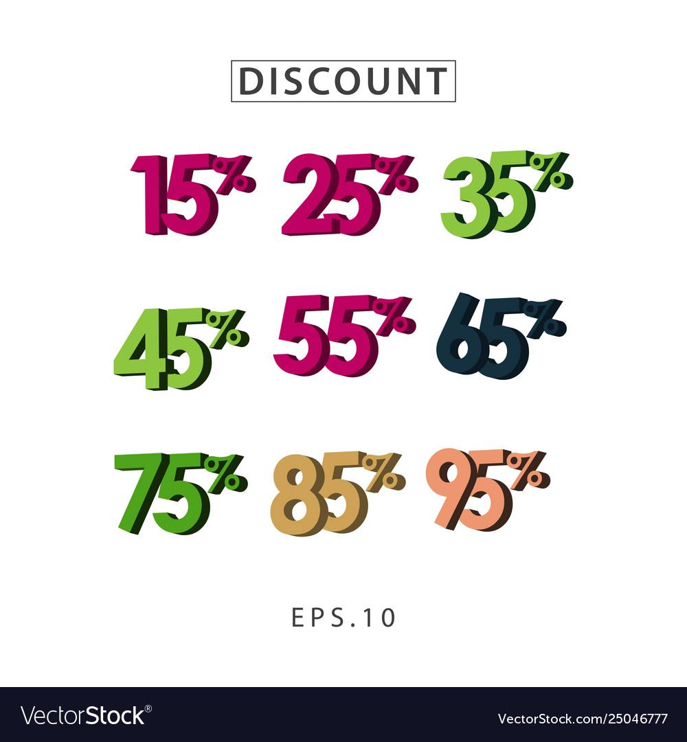 Discount set template design