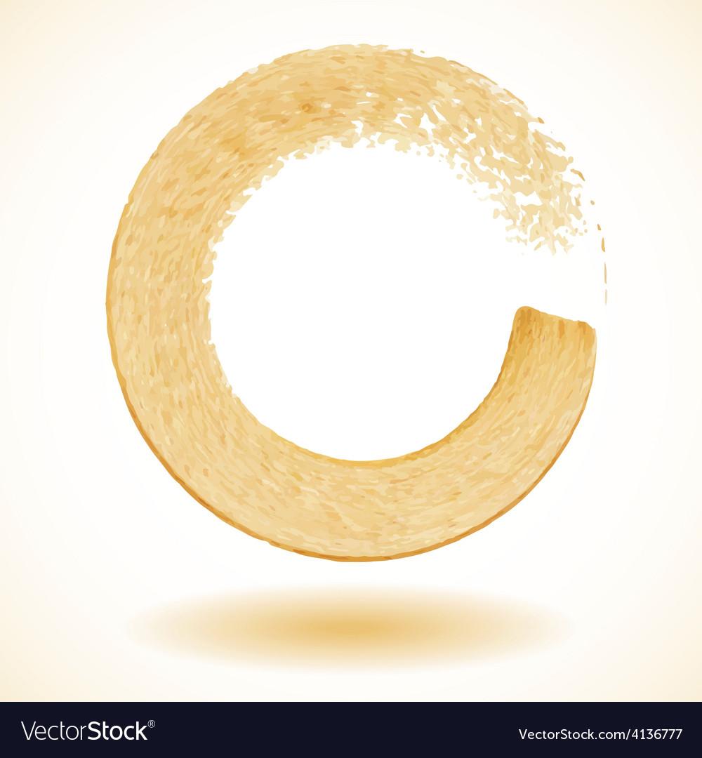 Gold paintbrush circle frame