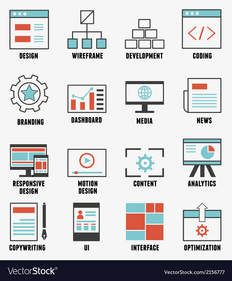 Set of e-commerce and internet service icons