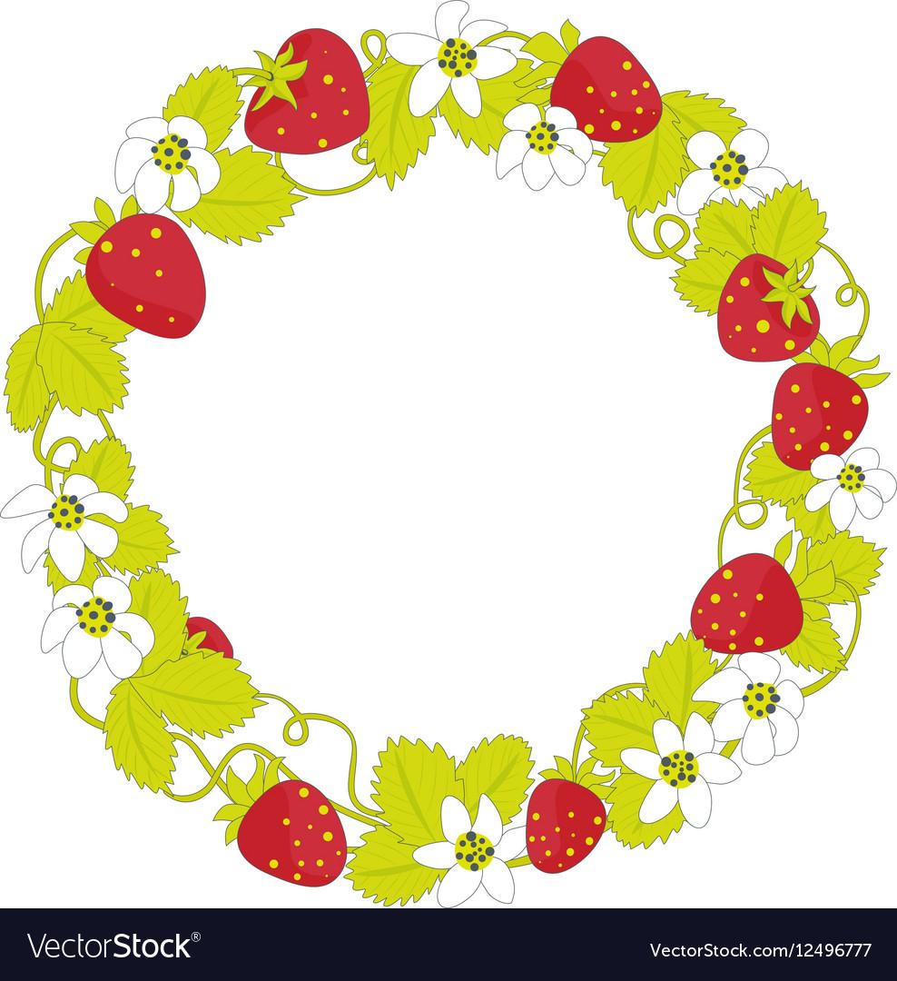 Strawberry round frame