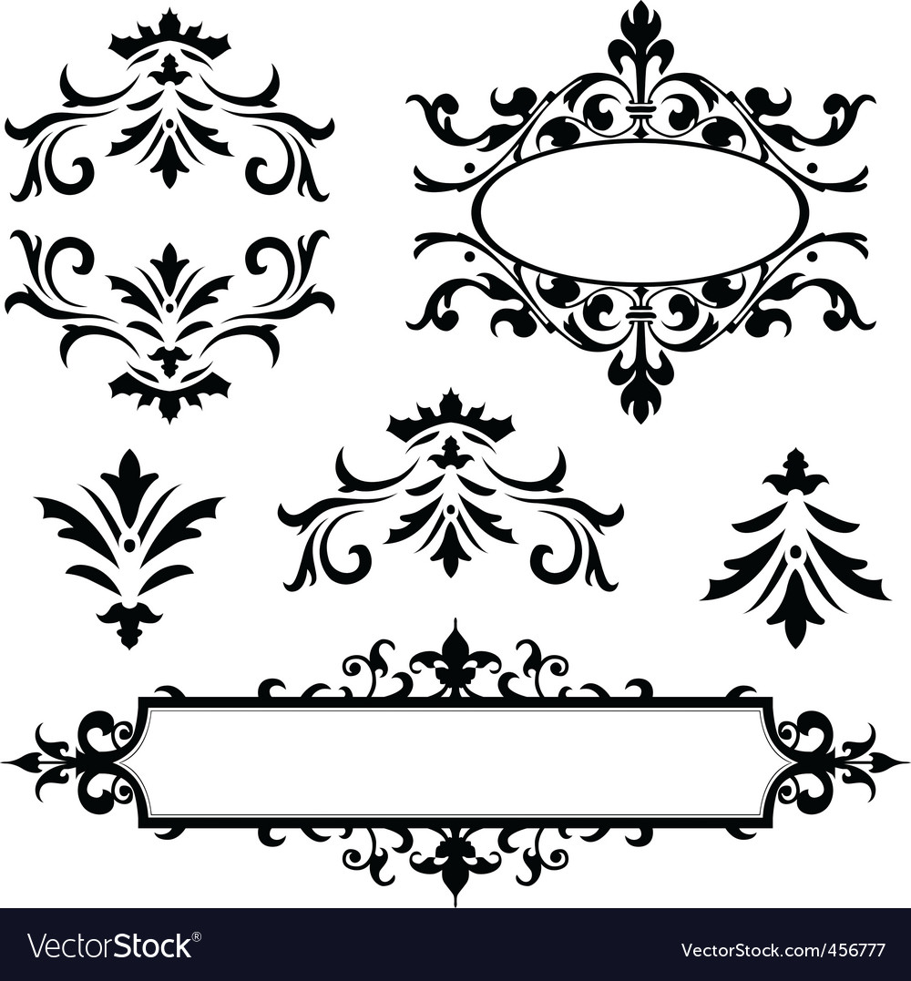 Vector decorative frame ornaments Royalty Free Vector Image