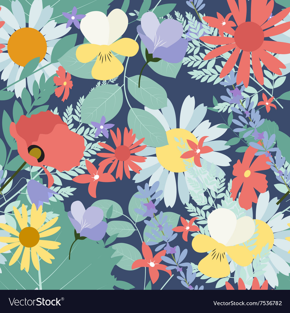 Abstract Natural Spring Seamless Pattern