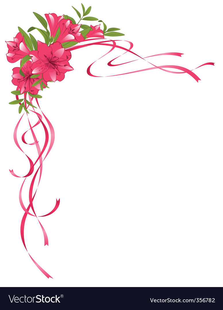 floral border royalty free vector image vectorstock