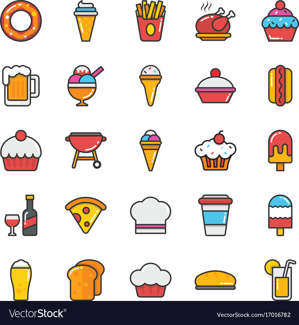 Food icons 2 vector image