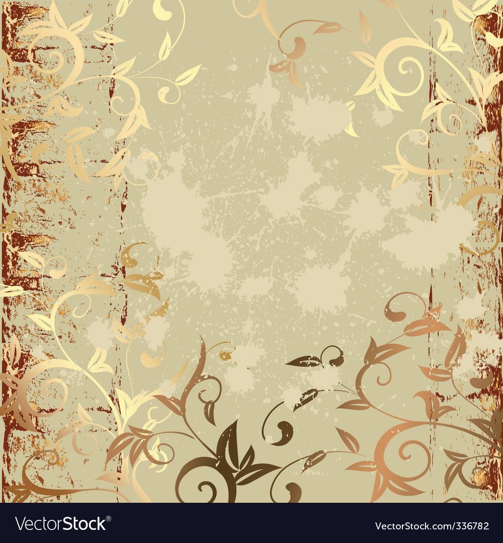 Grunge pattern gold vector image