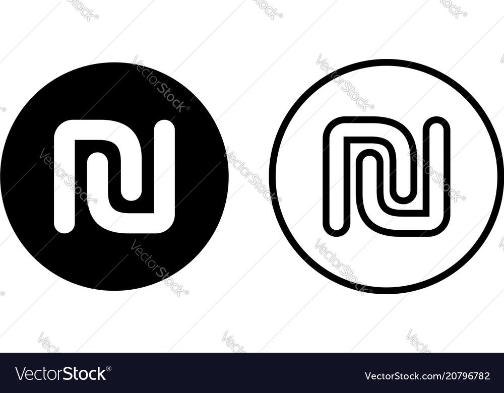 Israeli Shekel Currency Symbol Icon Royalty Free Vector
