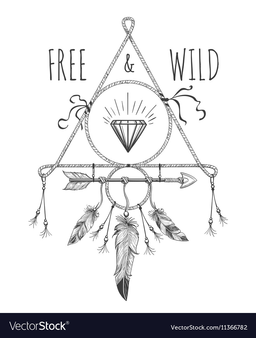 Native american boho design with text